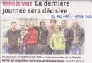 Article sur l'ASTT Lyon 6 publié dans le journal le Progrès