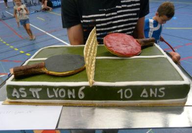 Dix bougies pour l'ASTT Lyon 6…!