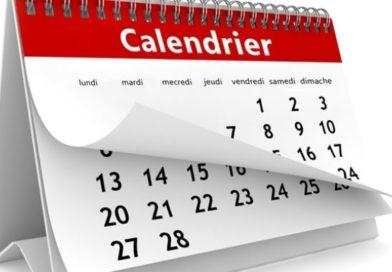 Planning première phase saison 2020-2021